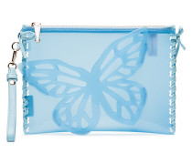 Blue Flossy Butterfly Jelly clutch bag