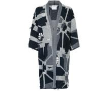abstract geometric kimono cardigan