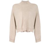 Cropped-Pullover mit Stehkragen