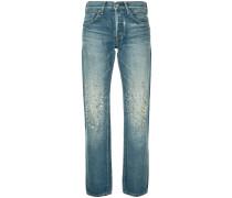 Jeans mit Kristallbesatz
