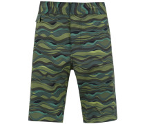 Badeshorts mit Camouflage-Print