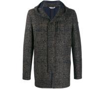 Glen check coat