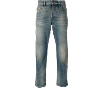 Tapered-Jeans mit Washed-Effekt