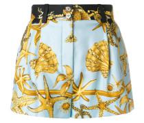 treasure print high waisted shorts