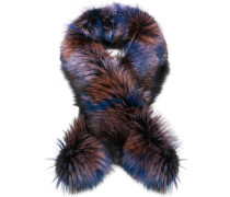 'Duchess' Schal mit Pelzbesatz
