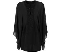 sheer sequin embellished blouse