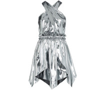 'Kary' Minikleid im Metallic-Look