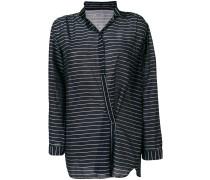 asymmetric striped shirt
