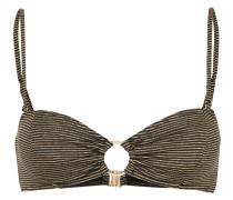 Nadia striped bikini top
