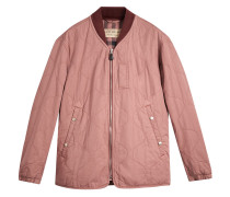 Lightweight Quilted Cotton Bomber Jacket
