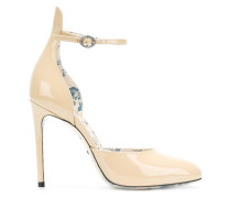 high-heel leather pumps