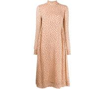 Gesmoktes Kleid mit Punkten
