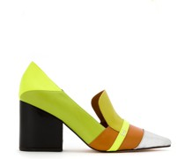 leather panelled pumps