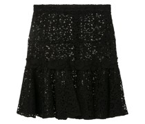 embroidered middle skirt