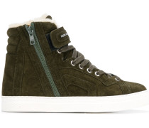 High-Top-Sneakers mit Shearling