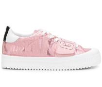 Flatform-Sneakers mit Stickerei