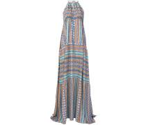 patterned halterneck dress