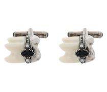 Manschettenknöpfe im Zahn-Design
