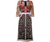 embroidered design midi dress