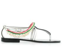 'Paula' Sandalen mit Perlen