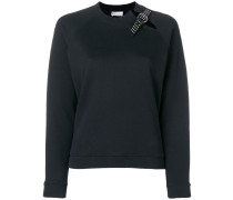 buckle detail sweatshirt