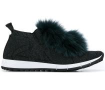 'Norway' Sneakers mit Fuchspelz