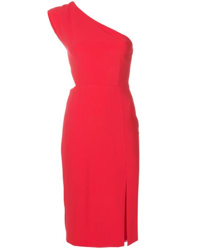 Einschultriges Kleid mit schmalem Schnitt
