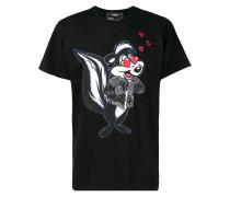 T-Shirt mit Wiesel-Print
