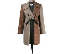 Tweed-Mantel im Patchwork-Look