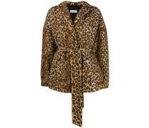Oversized-Mantel mit Leopardenmuster