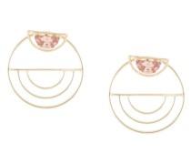 Mica Ear Jackets with Peach Zircon