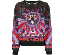 "Sweatshirt mit ""Warning""-Print"