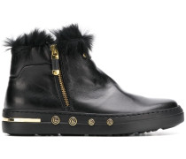 rabbit fur lined ankle boots