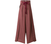 rope tie wide-legged trousers