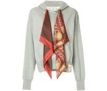 scarf detail hoodie