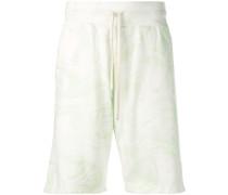 Shorts mit Marmor-Print