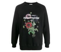 'Tor' Sweatshirt mit Blumen-Print