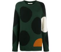 Gepunkteter Intarsien-Pullover