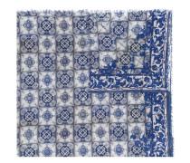 tile-print scarf