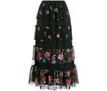 RED(V) Cherry Blossom print midi skirt