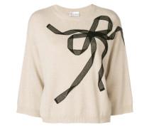 boxy lace bow sweater