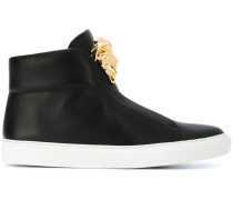 High-Top-Sneakers mit Medusa-Applikation