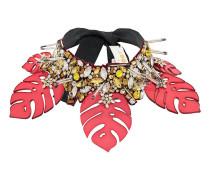 embellished leaf necklace