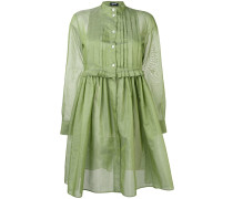 Hemdkleid mit plissiertem Latz