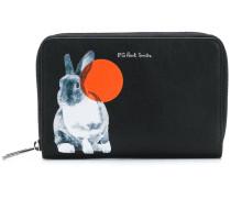 Portemonnaie mit Kaninchen-Print