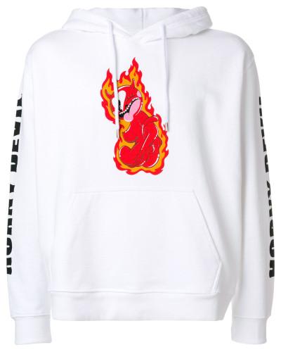Kapuzenpullover mit Flammen-Print