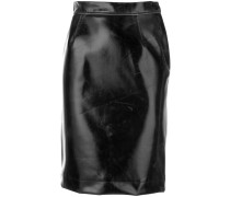 creased pencil skirt