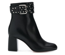 buckle studded ankle boots