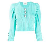 Cropped-Pullover mit Puffärmeln