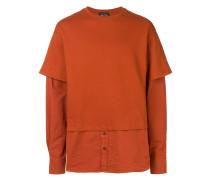 Sweatshirt mit Hemdeinsatz